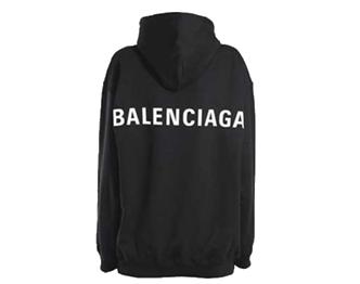 バレンシアガ オーバーサイズ ロゴ パーカー 画像