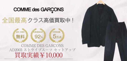 コムデギャルソン オム COMME DES GARCONS HOMME AD2003 ストライプ スーツ セットアップ 画像