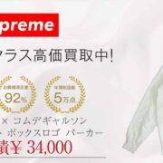 シュプリーム × コムデギャルソン 18AW スプリット ボックスロゴ パーカー 画像