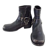 バレンシアガ Strap Leather Ankle Boots ライダース レザー リング ブーツ 画像
