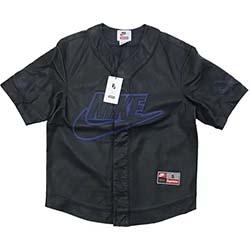 シュプリーム コラボモデル 19AW ×Nike Leather Baseball Jersey 画像