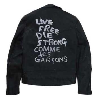 COMME des GARCONS コムデギャルソン ルイスレザー ライトニング ライダースジャケット 画像