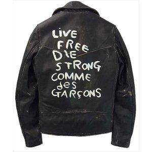 ルイスレザー ×コムデギャルソン 13AD LIVE FREE DIE STRONG 画像