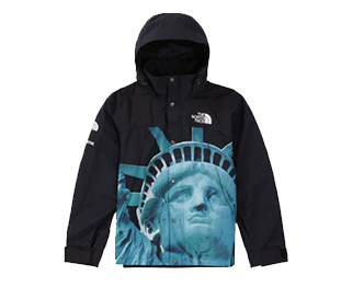 シュプリーム 新作モデル 19AW Statue of Liberty Mountain Jacket black 画像
