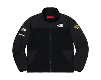 シュプリーム ×ノースフェイス 20SS RTG Fleece Jacket Black 画像