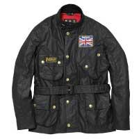 バブアー(Barbour) オイルドジャケット ユニオンジャック インターナショナル ワックスド コットン MWX0068 美品 画像