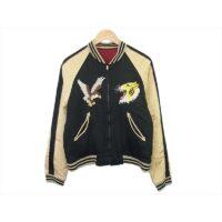 リアルマッコイズ ジャケット 明仙縫製 スカジャン スーベニア リバーシブル スカジャン ブラック×レッド 40 画像