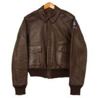 リアルマッコイズ レザージャケット 旧マッコイ ISOLA 30-1415 W535-BC-8824 A-2 フライトジャケット ブラウン系 36 画像
