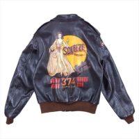 リアルマッコイズ レザージャケット 旧マッコイ A-2 SQUEEZE ROUGH WEAR ラフウェア ジャケット シールブラウン 46 画像