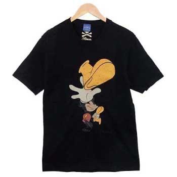 × Disney ミッキー プリント Tシャツ画像