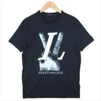 ルイヴィトン 洋服 国内正規品 RM182 FMB HFY79W 18AW peace and love KIM JONES ポップアップ限定 Tシャツ ブラック系 XS  画像