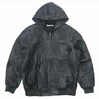 シュプリーム 16AW Court Cards Hooded Leather Jacket コートカード レザージャケット 画像