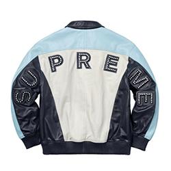 シュプリーム ジャケット 18SS Studded Arc Logo Leather Jacket 画像