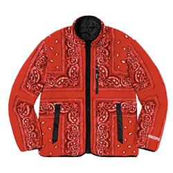 シュプリーム ジャケット 19AW Reversible Bandana Fleece Jacket 画像