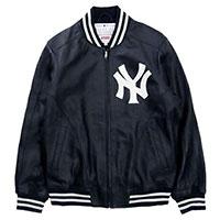 15SS x New York Yankees Leather Varsity Jacket ニューヨークヤンキース バーシティジャケット 画像