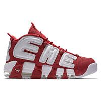 シュプリーム Nike Air More Uptempo RED ナイキ モアテン 赤 画像