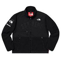 シュプリーム The North Face Arc Logo Denali Fleece Jacket 黒 ノースフェイス フリースジャケット 画像