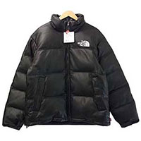 17AW × THE NORTH FACE ND91702I Leather Nuptse Jacket ノースフェイス ヌプシジャケット 画像