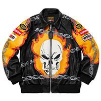 シュプリーム Vanson Leathers Ghost Rider Jacket 黒 バンソン ゴースト ライダースジャケット 画像
