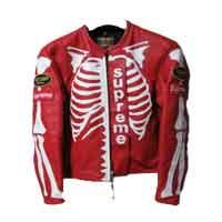 シュプリーム コラボモデル × Vanson Leather Bones Jacket 画像