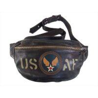 トイズマッコイ バッグ USAF スタッズ ホースハイド ショルダーバッグ ブラウン系 画像