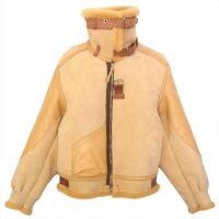 トイズマッコイ レザージャケット 極美品 B-3 ノンコーティング フライト ジャケット ベージュ系 38-R 画像
