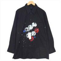 ヨウジヤマモト ウェア S'YTE UB-B56-084 100/2 Broad Splash Paint Processing Shirt ブロード スプラッシュペイント 長袖シャツ 4 画像